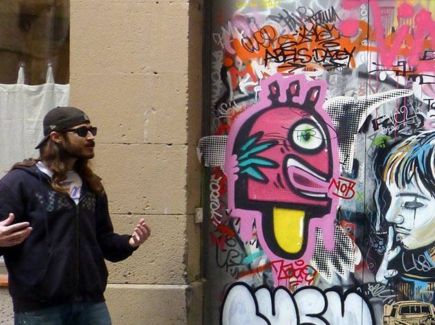 street-art a Barcellona con Mike