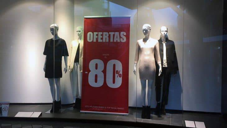 vetrina del Mango outlet di Heron City